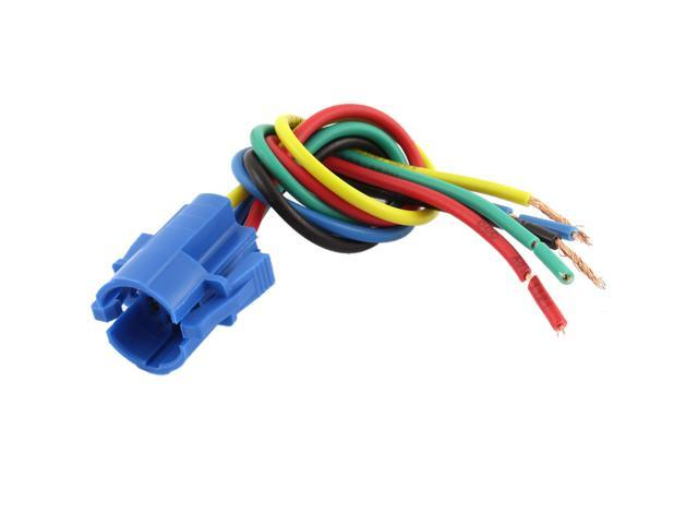 Unique Bargains Car 16mm Socket Plug 5 Pin Wire Harness for Metal Switch on