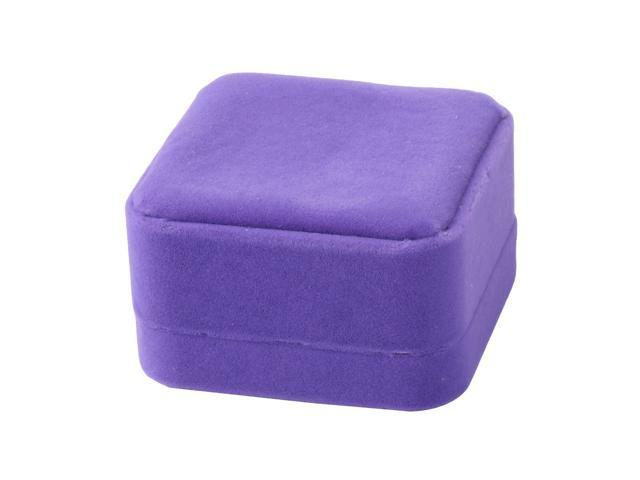 Sensational Wedding Velvet Square Jewelry Necklace Bracelet Ring Storage Box Case Purple Ocoug Best Dining Table And Chair Ideas Images Ocougorg