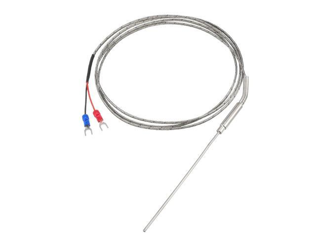 k type temperature sensor probe 1 5m cable 2mmx100mm probe thermocouple 32
