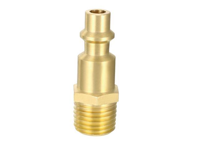 Quick Coupler Milton-type plug, Air Quick-Connect Fitting , 1/4-Inch NPT  Male Brass Thread Plug - Newegg com