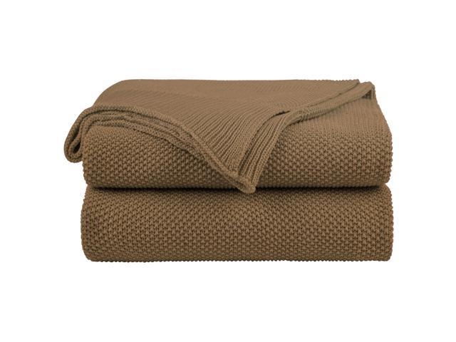 100 Cotton Knit Throw Blanket Solid