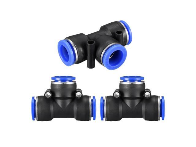 Push To Connect Fittings >> 3 Pcs Push To Connect Fittings T Type Tube Connect 12mm Or 15 32 Od Push Fit Fittings Tube Fittings Push Lock Blue 12mm T Tee Newegg Com