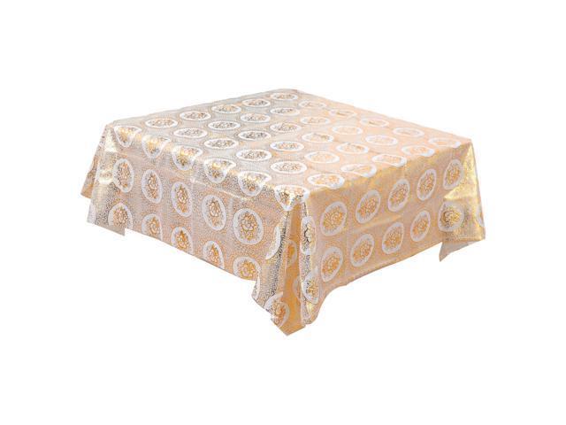 Pvc Square Tablecloths Oil Stain Resistant Non Slip Vinyl