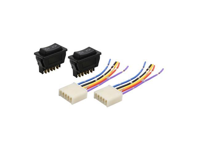 car power window glass lift switch with wire harness socket 5 pin dc 12v 4 in 1 chevy power window switch wiring diagram car relays used in automotive industry