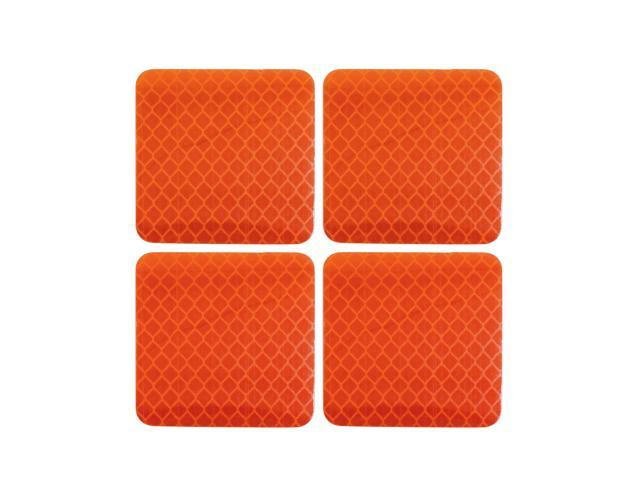 Car Stickers Orange Reflective Safety Warning Tape Reflector Decal 5 X 5cm 4pcs Neweggcom