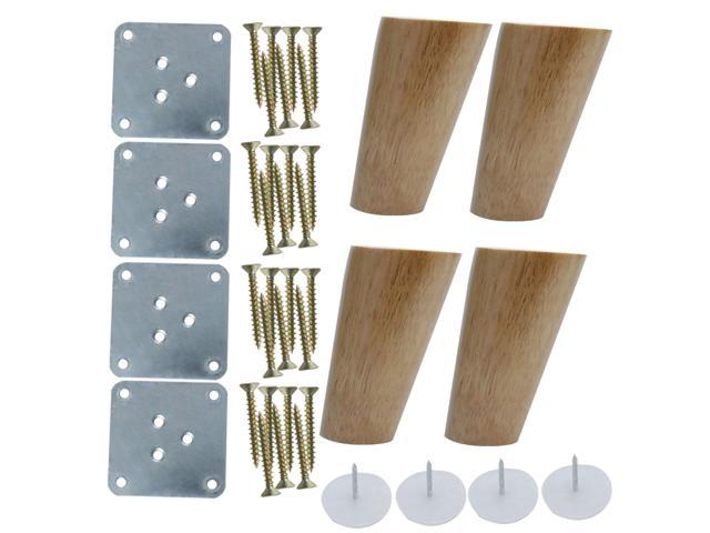 Amazing 4 Inch Wood Furniture Legs Sofa Couch Chair Table Desk Closet Cabinet Bench Oblique Feet Replacement 4Pcs Wood Color Ibusinesslaw Wood Chair Design Ideas Ibusinesslaworg