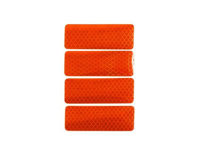 Car Stickers Orange Reflective Safety Warning Tape Reflector Decal 8 X 3cm 4pcs Neweggcom
