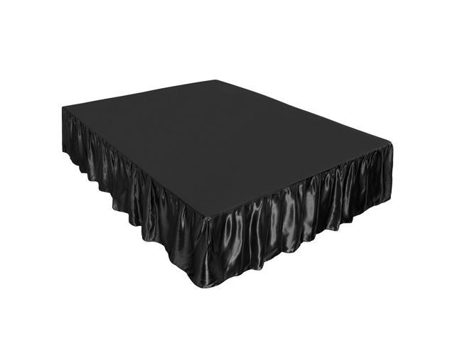 Black Bed Skirt King Size.Satin Silk Bed Skirt 300 Thread Count Dust Ruffle With 14 Inch Drop Black King Size 78 X 80 Inch