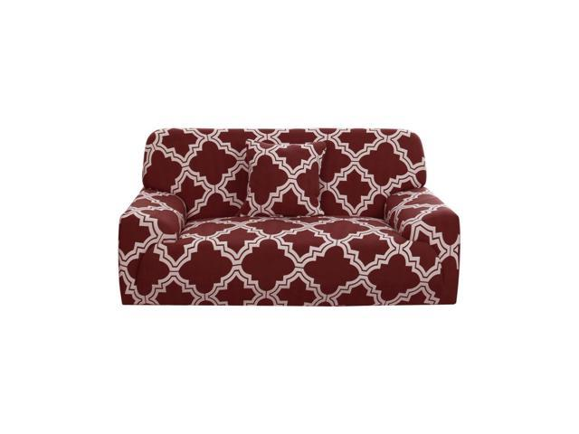 Stretch Sofa Couch Cover 4 Seater Polyester Spandex Fabric 1-Piece Sofa  Slipcover for Chair Loveseat Sofa Elastic Furniture Protector with One Free  ...