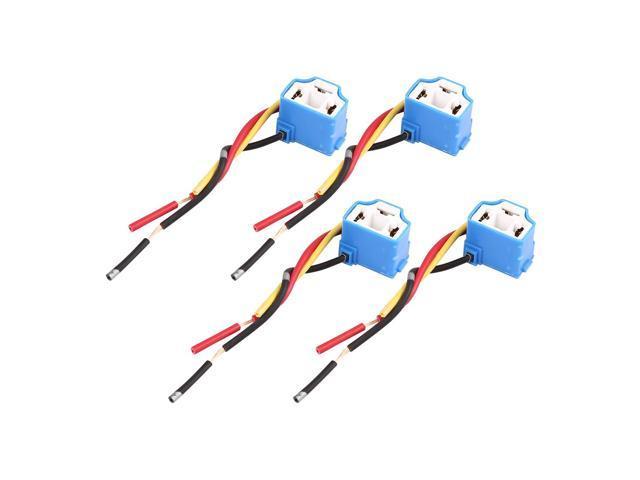DC 12V H4 Car Light Socket Ceramic Headlight Wire Harness Adapter Headlight Wire Harness on