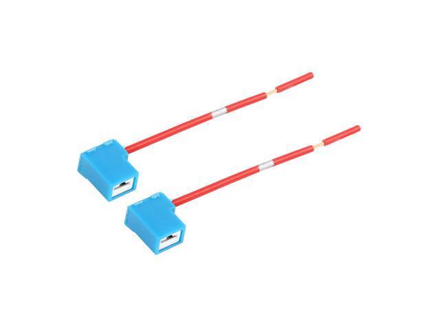 dc 12v h1 h3 car light socket ceramic headlight wire harness connector 2pcs