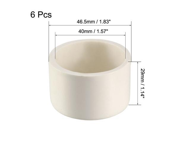 Slip End Caps DWV 40mm PVC Pipe Cap Fitting White 5Pcs Drain Waste Vent