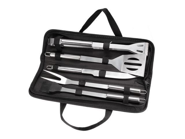 BBQ Grill Tool Set 10in1 Stainless Steel Barbecue Grilling Accessories with Case