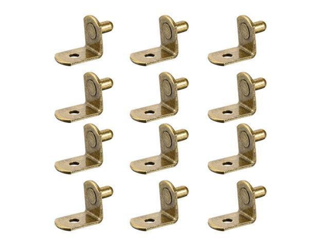 Shelf Support Peg,6mm L Support,Cabinet Closet Shelf Bracket Pegs Bronze 40pcs