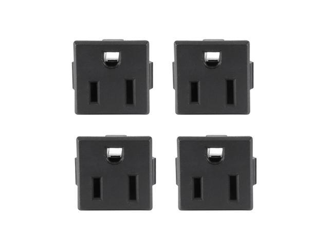Panel Mount Plug Adapter AC 250V 10A 3 Pins Snag-in IEC Outlet Plug Straight