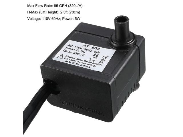 85 GPH (320L/H, 5W) Submersible Water Pump for Pond
