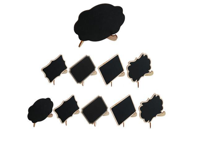 10pcs Diy Mini Wood Black Chalkboards Signs With Easel Stand For Weddings Birthday Party Message Board Signs Table Number Reminder