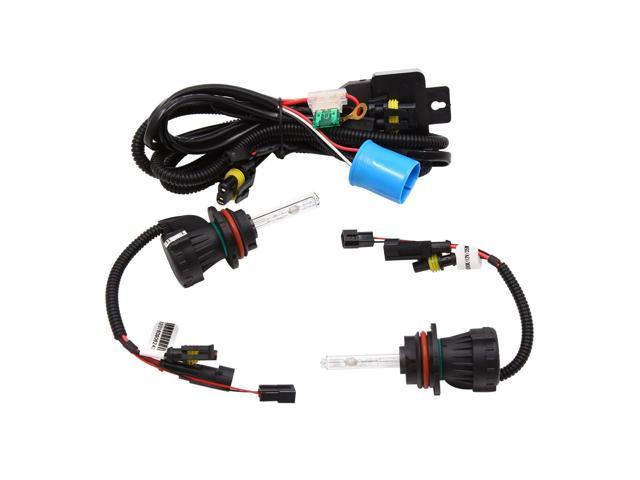 2pcs 35W 6000K White 9004/7H Car Xenon HID Headlight w Wiring Harness Xenon Wiring Harness Controller on