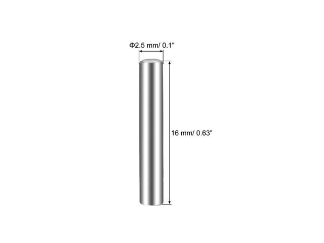 25Pcs 2.5mm x 16mm Dowel Pin 304 Stainless Steel Shelf Support Pin Fasten