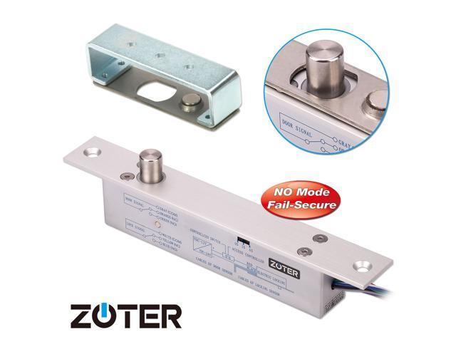 Zoter Electric Drop Bolt Deadbolt Strike Timer Lock Fail Secure No
