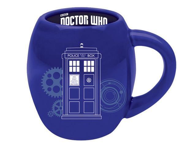 Oval Ceramic Mug 16062 Blue Doctor Who 18 Oz