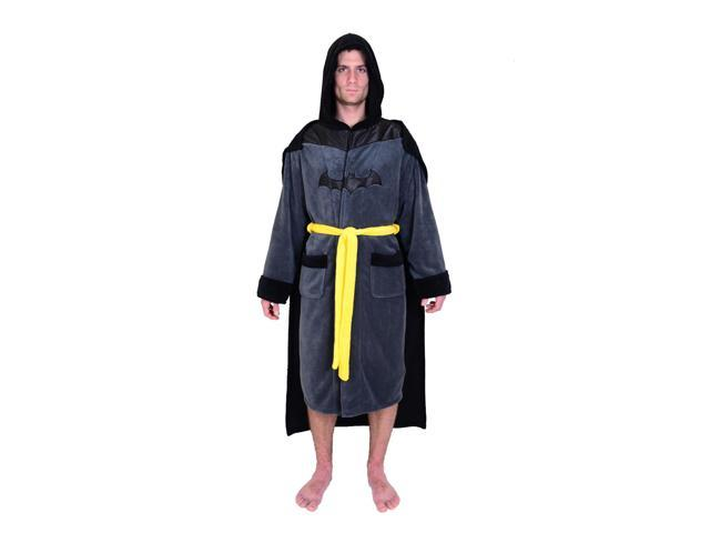 DC Comics Batman Mens Fleece Bathrobe   Swim Suit Cover Up with Cape b952705f1