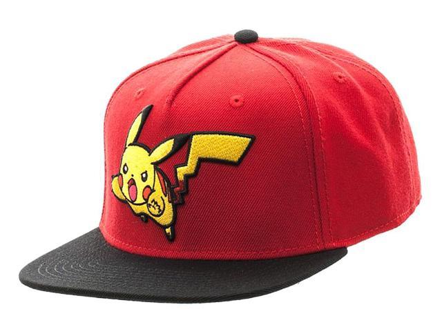 f8996a0137c Bioworld Pokemon Pikachu Color Block Snapback Hat - Newegg.com
