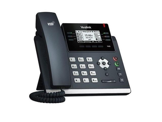 """Yealink SIP-T42S-SFB 2 7"""" Backlit LCD SIP Telephone With 12 VoIP Accounts -  Newegg com"""