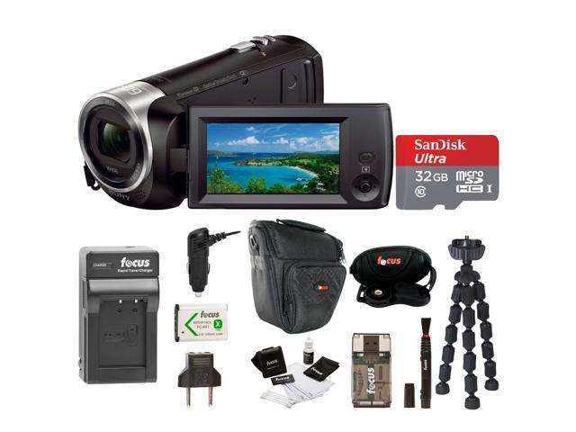 Sony HDR-CX440 Handycam Camcorder with Accessory Bundle - Newegg com