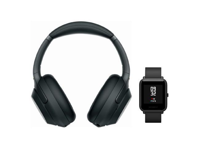 c4cfb9bcb65 Sony WH-1000XM3 Wireless Headphones (Black) with Amazfit Bip (Onyx Black)