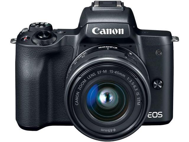 Canon EOS M50 Mirrorless Digital Camera with 15-45mm Lens (Black) 2680C011  - Newegg com