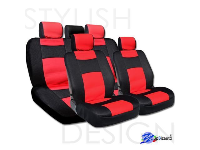 Yupbizauto Universal Size Mesh And Synthetic Leather Car Seat Covers