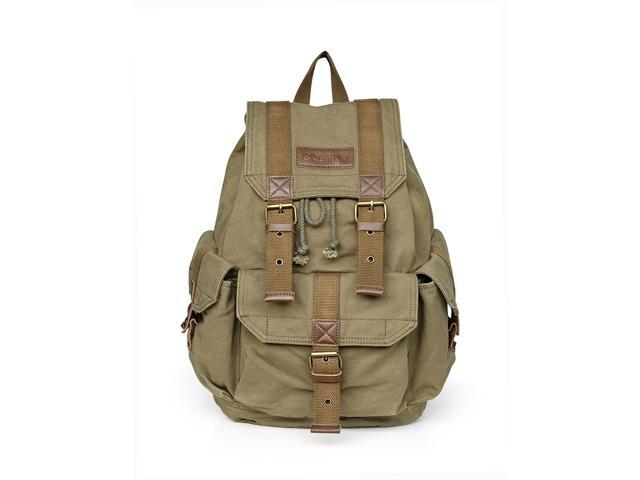 Green Canvas Backpack