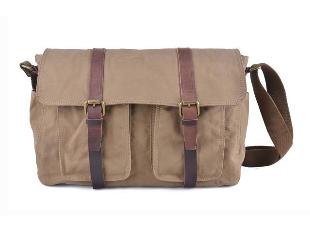 70de7f85cea4 Gootium 60301CF Vintage Canvas Messenger Bag Men's Shoulder Bag - Fit  Laptop Up To 15