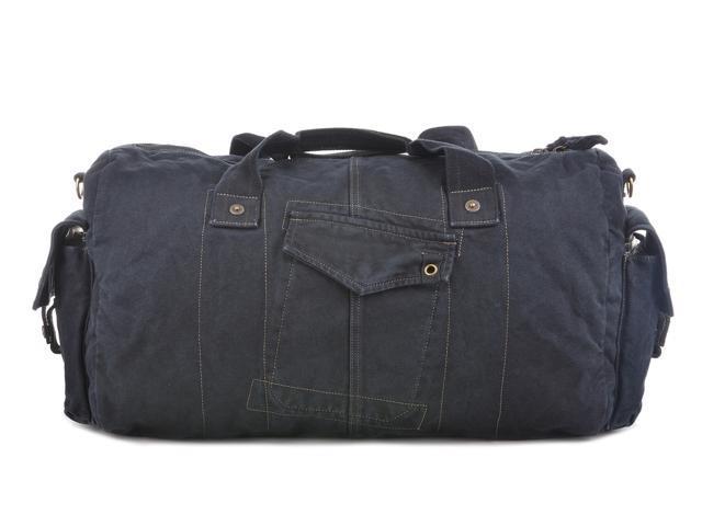 Gootium Vintage Canvas Duffel Bag Travel Tote Weekend Handbag Sports Gym