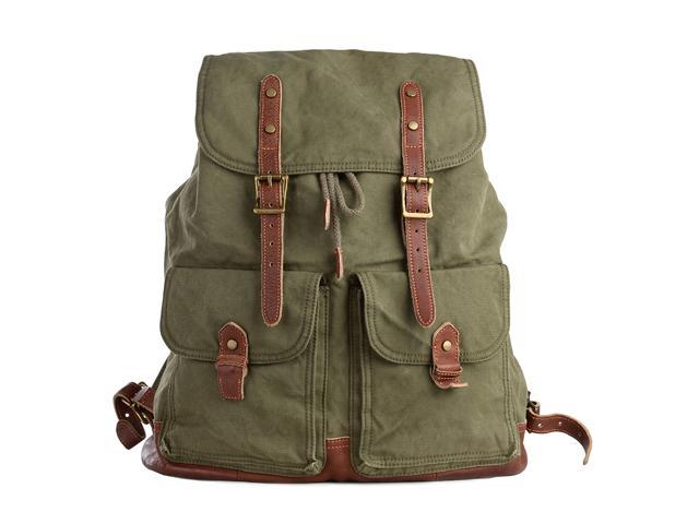 d987f62576f9 Gootium Specially Washed Vintage Canvas Backpack Rucksack - Newegg.com