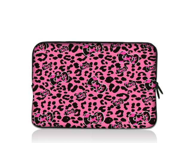 Pink Leopard bow 11 6