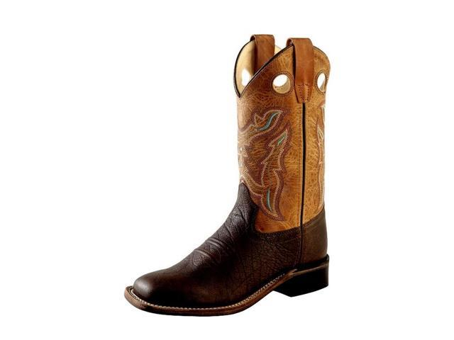 ae3f1b39018 Old West Cowboy Boots Boys Girls Kid Stitching 2 Child Brown BSC1819