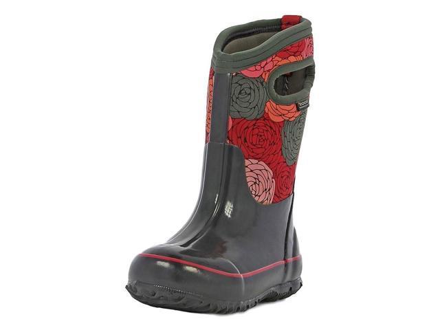 bd8dd93c87 Bogs Boots Girls Kids Classic Rosey WP 11 Child Dark Gray 71993 - Newegg.com