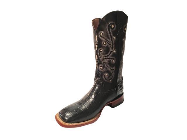 6cd2200a812 Ferrini Western Boots Mens Caiman Gator Cowboy 13 D Black 40793-04 -  Newegg.com