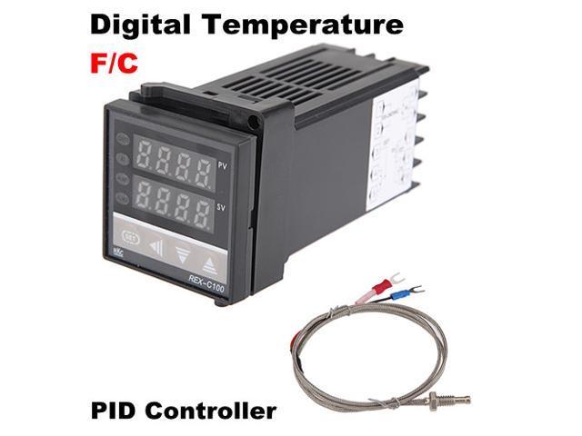 Thermocouple REX-C100 Dual Digital PID Celsius C Temperature ...
