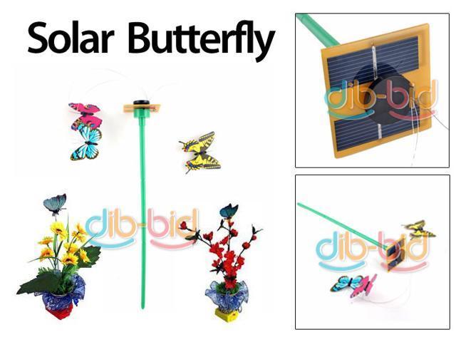 solar power panel flying color butterfly butterflies garden yard