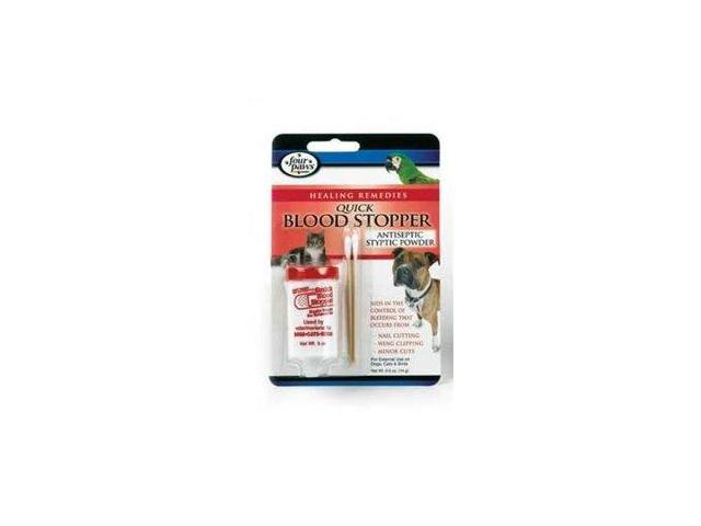 8520856a8107 Four Paws Products Ltd Antiseptic Quick Blood Stopper Powder, 0.5 Oz -  100203518