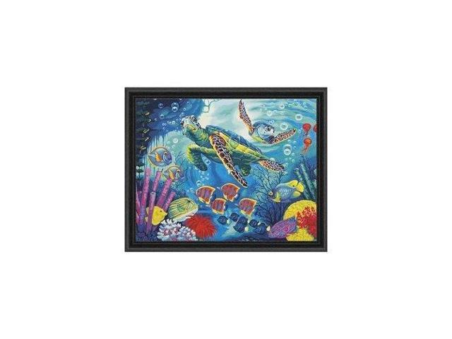 Sea Turtles Dimensions 73-91454 Crafts Paintworks Paint by Numbers