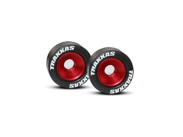 Wheels Red 2 Rubber Tires:Revo E-Revo Traxxas 5186 Alum