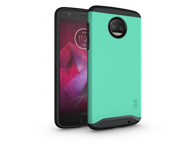 best loved c0a79 85bb8 TUDIA Slim-Fit HEAVY DUTY [MERGE] EXTREME Protection / Rugged but Slim Dual  Layer Case for Motorola Moto Z Force (2nd Generation), Moto Z2 Force Droid  ...