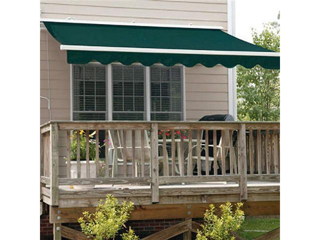 size 40 4d588 bb0d1 ALEKO RETRACTABLE AWNING 13FT X 10FT (4M X 2.5M) GREEN COLOR PATIO AWNING -  Newegg.com