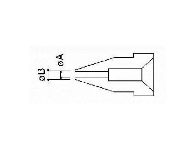 HAKKO N3-08 Nozzle,Round,0.8 x 2.0mm,Desoldering