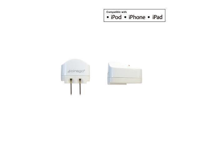 Cirago IPA2000 AC Charger for iPod//iPhone//iPad 1