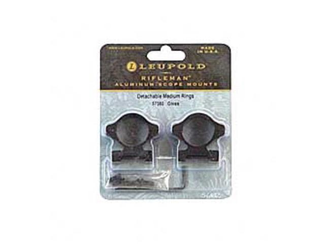 "Leupold Rifleman Detachable Scope Rings-Medium-1/"" Gloss Black-57380"